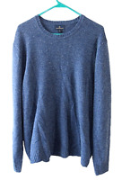 Brooks Brothers Men's XL Merino Wool Blue Speckle Knit Crewneck Pullover Sweater