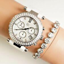 Guess Collection GC uhr damenuhr a2210m11 keramik diamanten 1,125 Carat neu