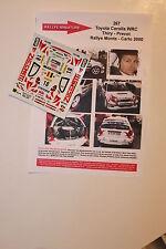 Decals 1/43 Toyota Corolla WRC Bruno Thiry Rally Mounted Carlo 2000 Rally