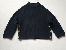 Ladies Topshop small black crop short knitted wool jumper top