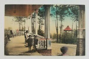 Postcard Mom Kids on Porch Summer House Delaware Water Gap Pennsylvania