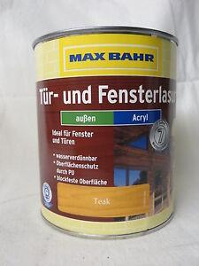 AUSVEKRAUF! 2,5 Liter Türlasur Fensterlasur Holzlasur Natur MAX BAHR 8,99€/L!