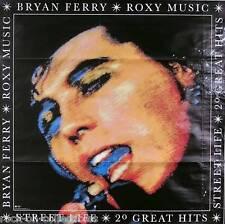 Roxy Music Bryan Ferry 1986 Twenty Greatest Hits Original Promo Poster