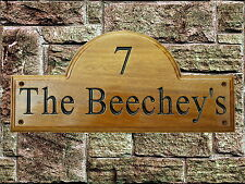 Personalised Wooden House Name Plaque Signs - Solid Wood Porch Conservatory