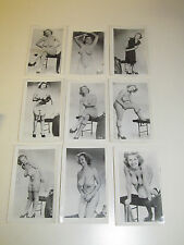 Set of 9 Vintage Photos of Large Breast Blonde Stripping and Teasing