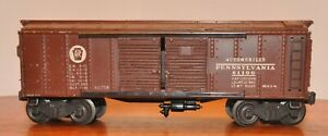 Lionel 2758 Brown  Pennsylvania Box Car from Late 1945 Flying Shoes Black Fiber
