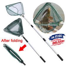 Telescopic Fishing Net Mesh Fish Landing Net Collapsible Foldable Pole Handle AU