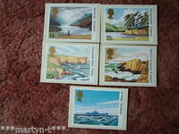 PHQ Stamp card set No 52 National Trusts 1981. 5 card set  Mint Condition.