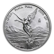 2016 Mexican Libertad 1/10 oz .999 Silver BU Round Bullion Coin - ONLY 24,400!!!