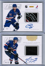 11/12 DOMINION NUGENT-HOPKINS CONNOLLY ROOKIE SHOWCASE DUAL PUCK AUTO /25 OILERS