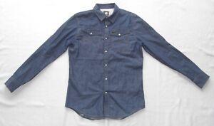 G-Star  Herren Langarm Jeans Hemd  ARC 3D Shirt  Größe M-L    Zustand (Wie) Neu