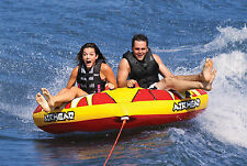 AIRHEAD AHTB-12 Turbo Blast Inflatable Double Rider Towable Lake Boat Water Tube