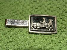 Convertible  Vintage Tie Bar Clip old car antique auto silver tone & Black