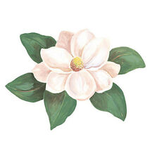 White Magnolia 25 Beautiful Floral Wallies Flower Wall Decals Stickers Border