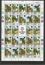 1982 Sanford's Eagle Life Cycle Sheetlet  Complete MUH/MNH as issued