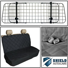 Heavy Duty Diamond Quilted Seat Cover & Adjustable Mesh Grill Pet Barrier Guard