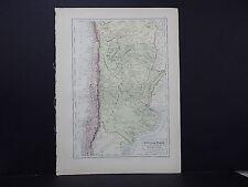 Black's 1876 Atlas, Map, Chili, La Plata, Argentine Republic, Bolivia M2#16