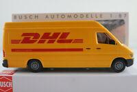 """Busch 47851 Mercedes-Benz Sprinter Kastenwagen (1995) """"DHL"""" 1:87/H0 NEU/OVP"""