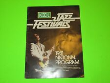 Vintage Kool Jazz Festivals 1981 National Concert Program Bb King Franklin