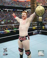 "SHEAMUS WWE PHOTO WRESTLING 8x10"" PROMO WRESTLEMANIA WITH WORLD BELT"