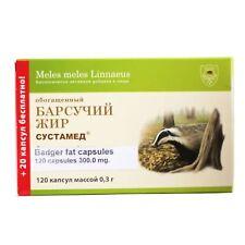BADGER FAT capsules richest Source Omega-3-6, Vitamin E 120kaps