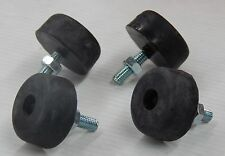 DATSUN NISSAN BONNET RUBBER RUBBERS WITH METAL SCREW M5 THREAD 4pc