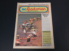VERY COLLECTIBLE APRIL 1978 R/C SPORTSMAN NEWS MAGAZINE W/PLANE PLANS *G-COND*
