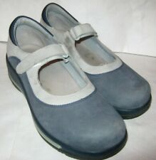 DANSKO Blue and Gray Leather Mary Jane Clogs/Shoes Women's Size 40/9.5-10