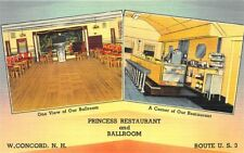 West Concord Nh Princess Restaurant & Ballroom Juke Box Postcard
