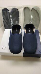 Mahabis Summer $109 Blue Mesh Slip On Slippers With 2 Inserts EU 44 US Men~10.5