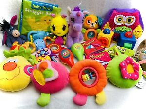 💥BUNDLE OF INTERACTIVE SENSORY BABY TODDLER SOFT AND MUSICAL RATTLE TOYS💥