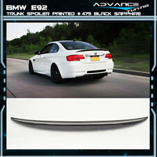 High Kick Trunk Spoiler 07-13 BMW E92 2Dr Coupe OEM Painted #475 Black Sapphire