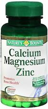 Nature's Bounty Calcium Magnesium Zinc Caplets 100 Caplets (Pack of 8)