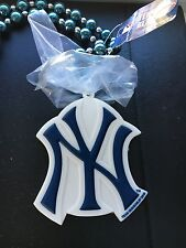 """MLB Baseball New York Yankees Licensed Beads Necklace 21"""" NEW w Tags"""