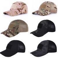 Tactical Baseball Cap Military Fan Outdoor Anti-UV Sun Hat Velcro Camouflage Cap