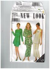 New Look 6524 Sewing Pattern Tunic Skirt Jacket Diff Lengths Size 10-22 Uncut FF