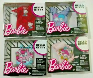 Barbie Doll Hello Kitty Fashion Tops Shirts My Melody Little Twin Stars 4 Pieces