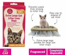50 x Cat Kitty Litter Liners Bags Bulk Liner White Extra Large Brand New