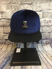Brand New TWINZZ SELECT MILANO SUEDE BLACK And  BLUE Snakeskin Skulls Snapback
