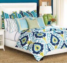 Barclay Butera 3 Pillows & Full Size Comforter Blue Green Palm Beach Collection