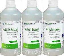 HM Witch Hazel Astringent 16oz Bottle ( 3 pack ) ***  PHARMACY FRESH!