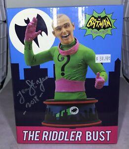 Batman 66 TV Diamond Select Bust The Riddler SIGNED  Jean ST Jean sculptor 0122