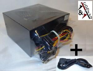 500W 500 W Watt PC Netzteil ATX V2.3 20/24 P4 3x SATA 2x IDE P6 PCIe sehr Leise