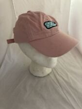 Vineyard Vines Whale Adjustable Hat Embroidered large Golf Pink 100% cotton