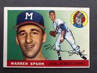 1955 Topps #31 Warren Spahn EX? Hall of Fame Milwaukee Braves