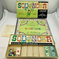 1965 Squander Game by Avalon Hill Never Played Pieces Sealed Unpunched FREE SHIP