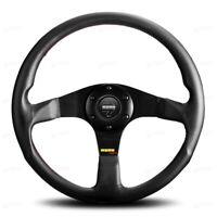 MOMO Tuner Black 350mm Leather steering wheel Black spoke 11110335211L