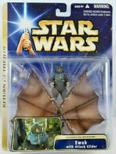 Star Wars ROTJ Assault on Endor Ewok with Attack Glider 2004 MOC