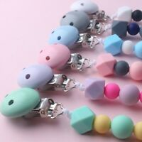 Baby Silicone Pacifier Chain Clips Boys And Girls Baby Chew Toy Dummy Clips