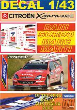 DECAL 1/43 CITROEN XSARA WRC DANI SORDO R.AUSTRALIA 2006 23rd (03)